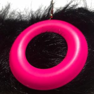 "Jewelry - NEON PINK COOL DISCO LIKE 2"" Pierced Earrings"